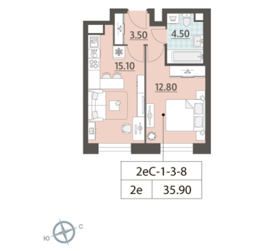 Продажа 2-комнатной новостройки, Москва, ул. Автозаводская,  23